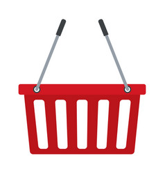 red basket shopping empty market commerce business vector image