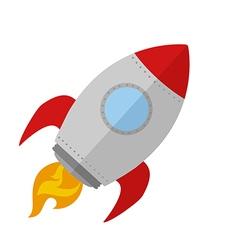Retro Rocket Ship Design vector image