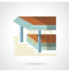 Sea terrace flat color design icon vector image