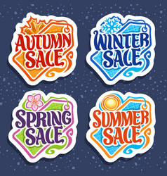set for four seasons sale vector image