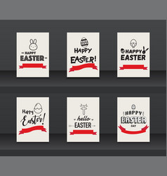set label elements easter holiday on vector image
