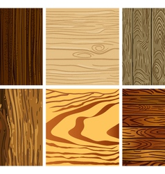 Set of wooden seamless pattern vector