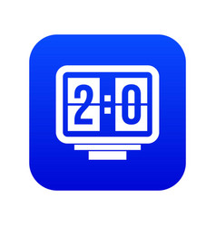 soccer scoreboard icon digital blue vector image