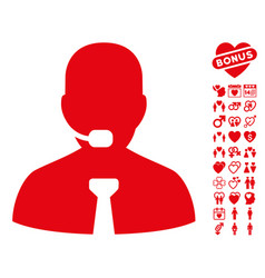 support chat icon with love bonus vector image