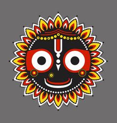 supreme lord jagannatha vector image