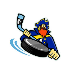 Swashbuckler ice hockey sports mascot vector