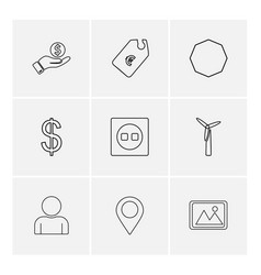 Tag navigation dollar money image shapes vector