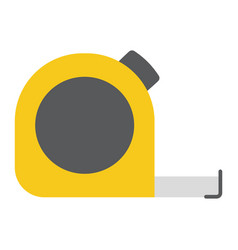 tape measure flat icon build and repair vector image