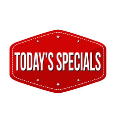 todays specials label or sticker vector image