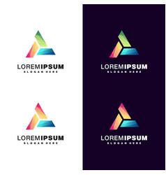 Triangle colorful logo design vector