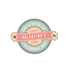 Valentines day badges and stickers vector