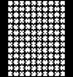 White puzzle vector image