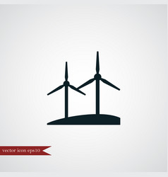 Windmill icon simple vector