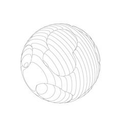 wireframe mesh objects network line hud design vector image