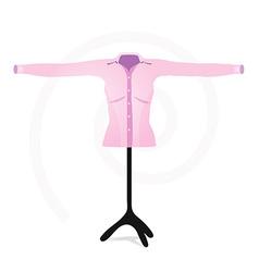 Woman shirt of business vector