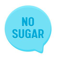 Zero percent sugar banner round speech bubble vector