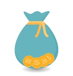 Bag with four Gold Coins - Contribution to Futura vector image vector image
