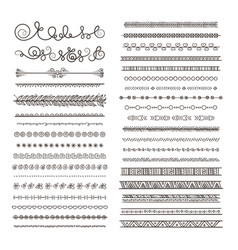 borders and dividers hand drawn frames vector image