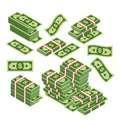 dollars bundles scattered vector image vector image