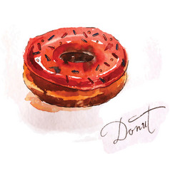 donut of red color vector image vector image