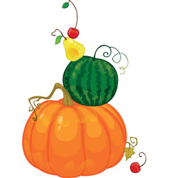 harvest fruit and berries isolated vector image vector image