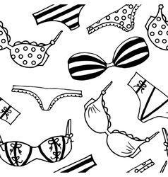 Lingerie seamless pattern underwear vector image