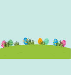 on the hill easter egg of landscape vector image