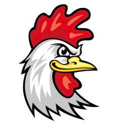 Rooster mascot vector image