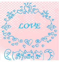 template of three cats vector image