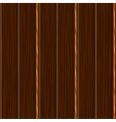wood wall panel texture with gold vector image