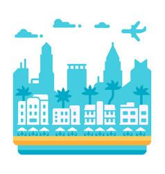 flat design miami beach vector image vector image