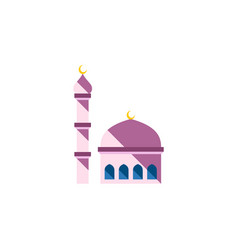 isolated mosque flat icon building element vector image