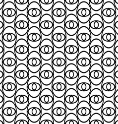 Monochrome abstract ellipse eye repeat pattern vector image