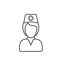 nurse avatar doctor thin line icon linear vector image