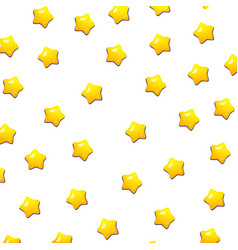 cute yellow stars pattern with isolated white vector image vector image
