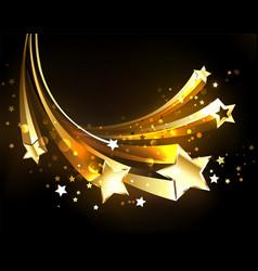 flying golden comets vector image
