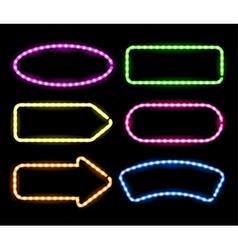 neon signboards vector image vector image
