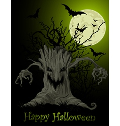 Scary tree background vector image vector image