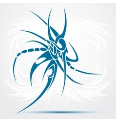 Sharp tribal tattoo Blue vector image vector image