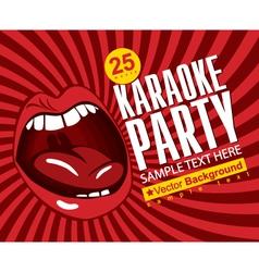 singing karaoke vector image