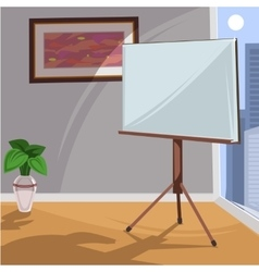 White board for presentation in an office vector image vector image