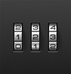combination lock vector image vector image
