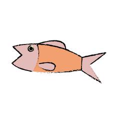 Fish sea food fresh animal wild icon vector