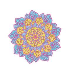 flower mandalas vintage decorative elements vector image vector image