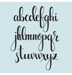 Handwritten brush style calligraphy cursive font vector image vector image