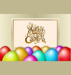 happy easter lettering modern calligraphy vector image vector image