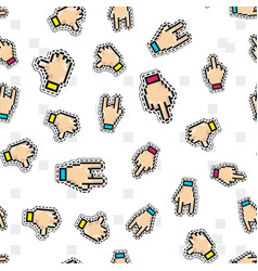 seamless pattern with thumbs down two vector image