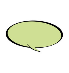 speech bubble chat communicate comic vector image vector image