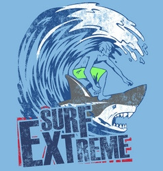 SURF EXTREME vector image vector image