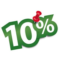 Ten percent sticker vector image vector image
